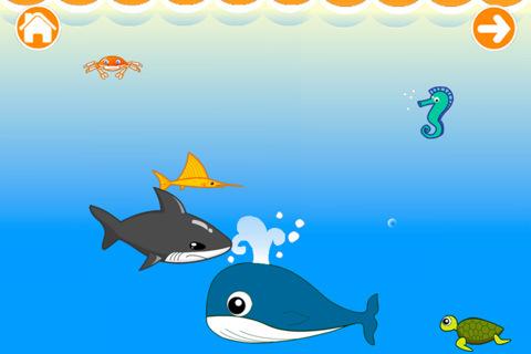 海底世界简笔画卡通小海龟